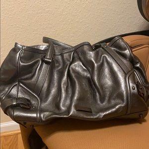Burberry shimmer metallic shoulder bag